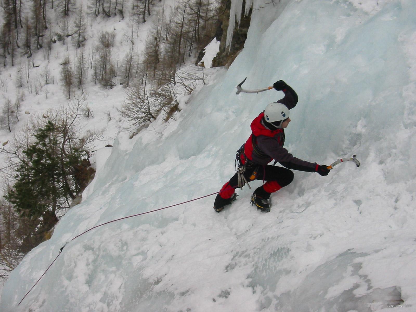 Stage cascade de glace avec l'UCPA