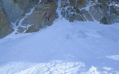 Goulottes de glace dans le Massif du Mt Blanc