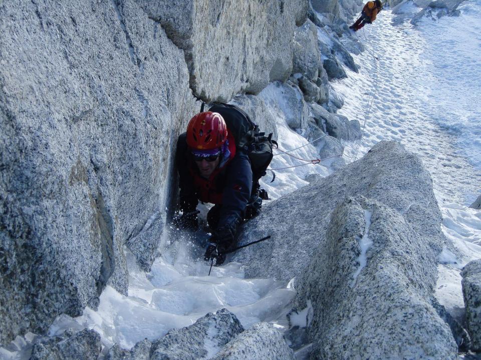 Goulotte Chéré au Mont Blanc du Tacul