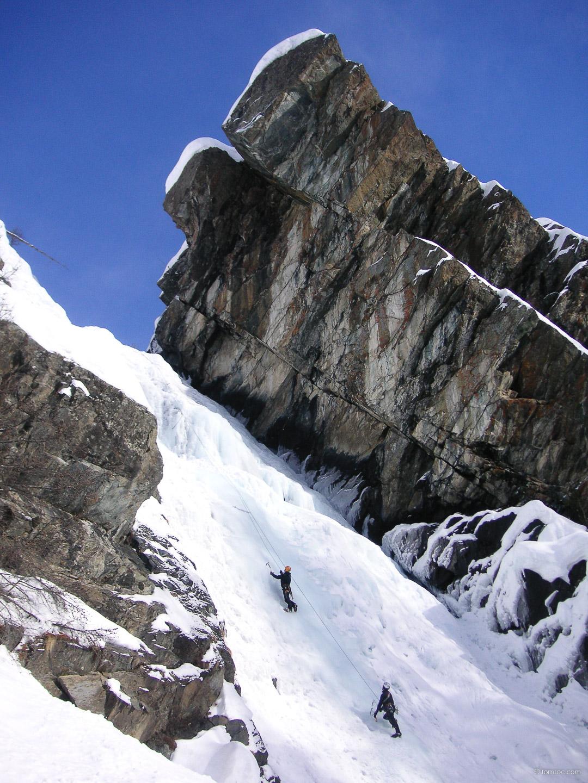 Second stage de cascade de glace avec l'UCPA