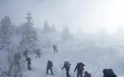 Ski de randonnée au Pic Saint Michel, dans le Vercors