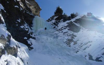 Cascade de glace à Cogne, Italie