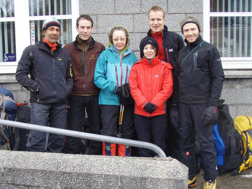 L'équipe au complet: Paulo, Philippe, Catherine, Fabienne, Svend et Alexandre