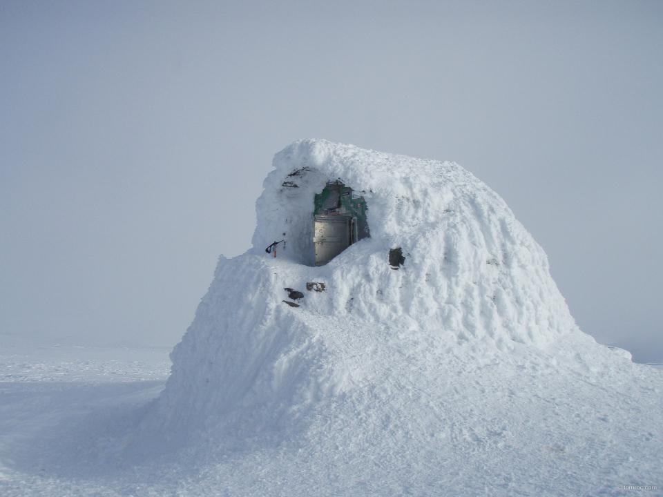 L'abri au sommet du Ben Nevis