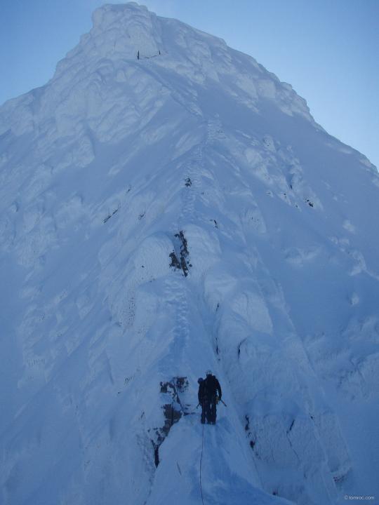 le passage du Gap dans Tower Ridge