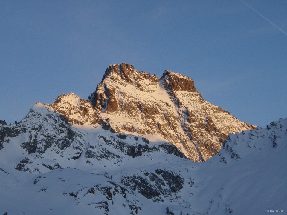 Le Mont Viso sous la lumière du soir