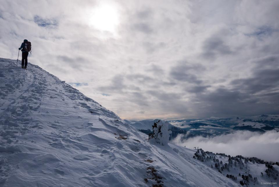 A l'approche du sommet de Chamrousse