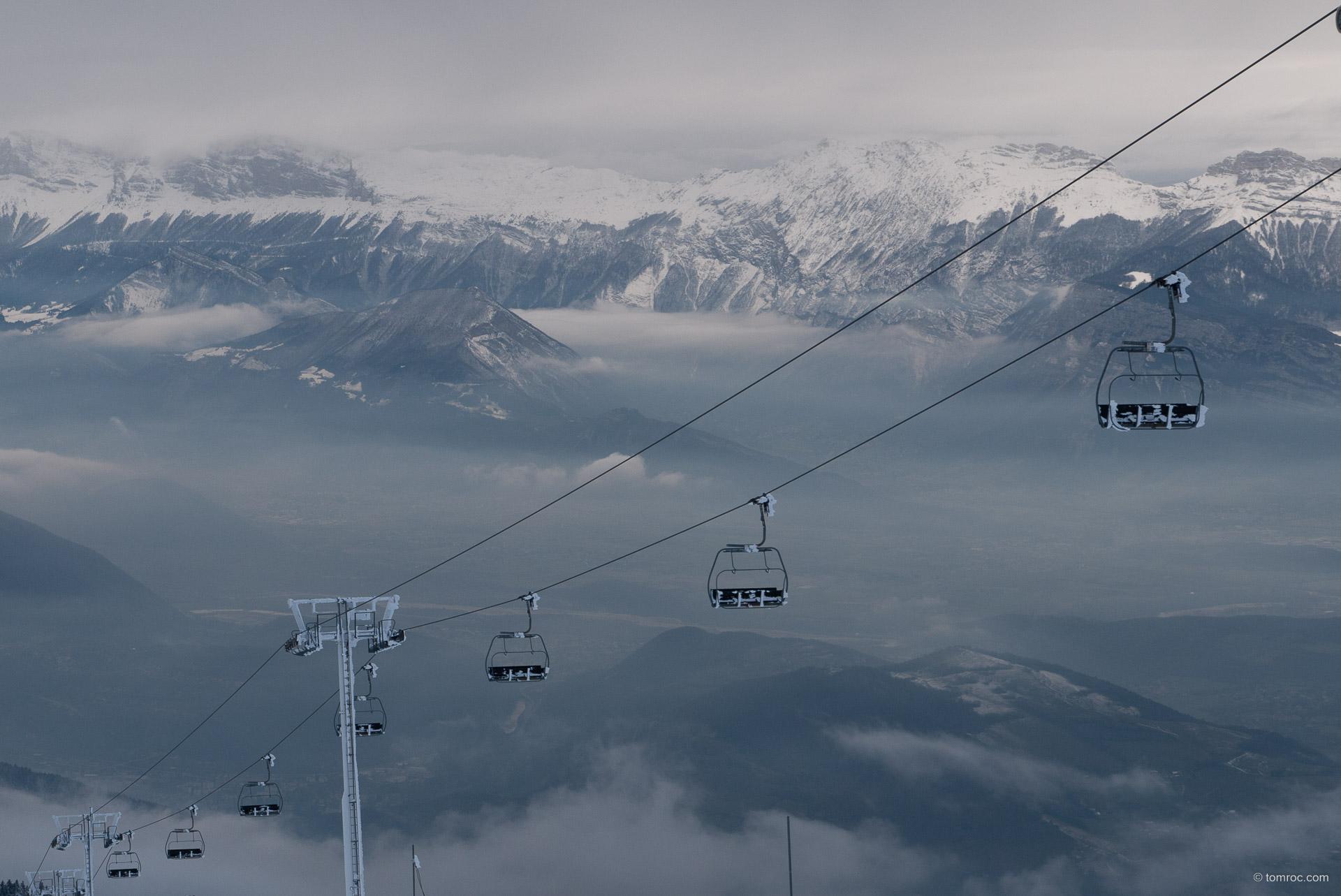 Ski rando à Croix de Chamrousse