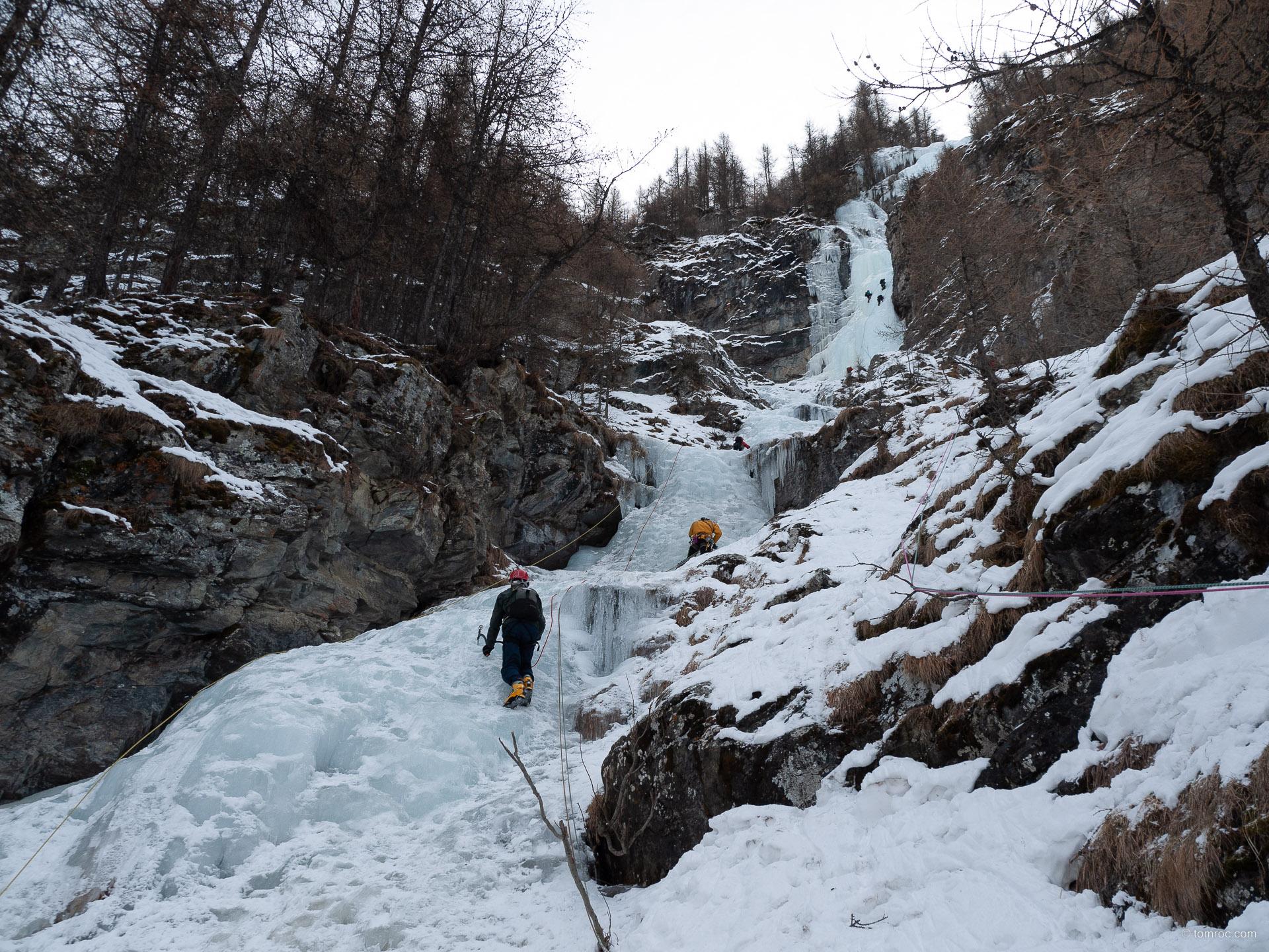 Cascade de glace à la Grave – Colère du Ciel