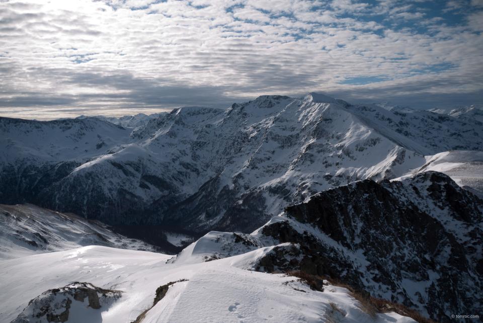 Joli panorama sur le parcours du Pic des Trois Seigneurs.