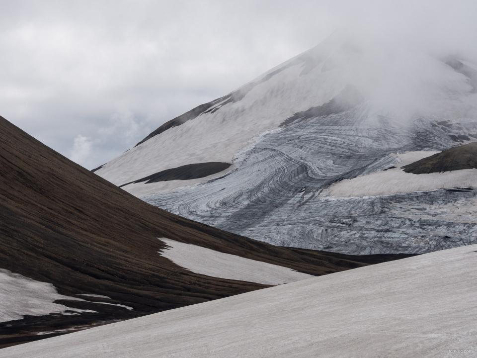 Kaldaklofsjökull, sur le trek Skogar - Landmannalaugar