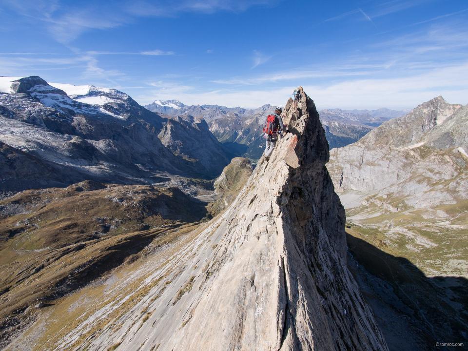 Sur le fil de l'Aiguille de la Vanoise.