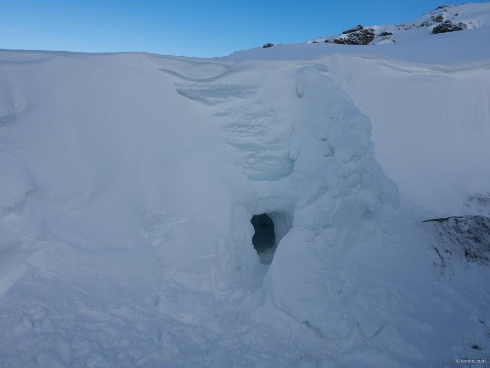 Abri sous neige, non utilisé
