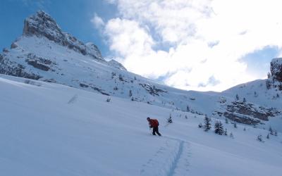 Ski de randonnée dans les Aravis, objectif Charvet