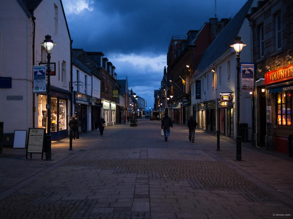 La rue principale de Fort William