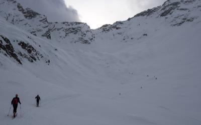Ski de randonnée à All'Acqua en Suisse