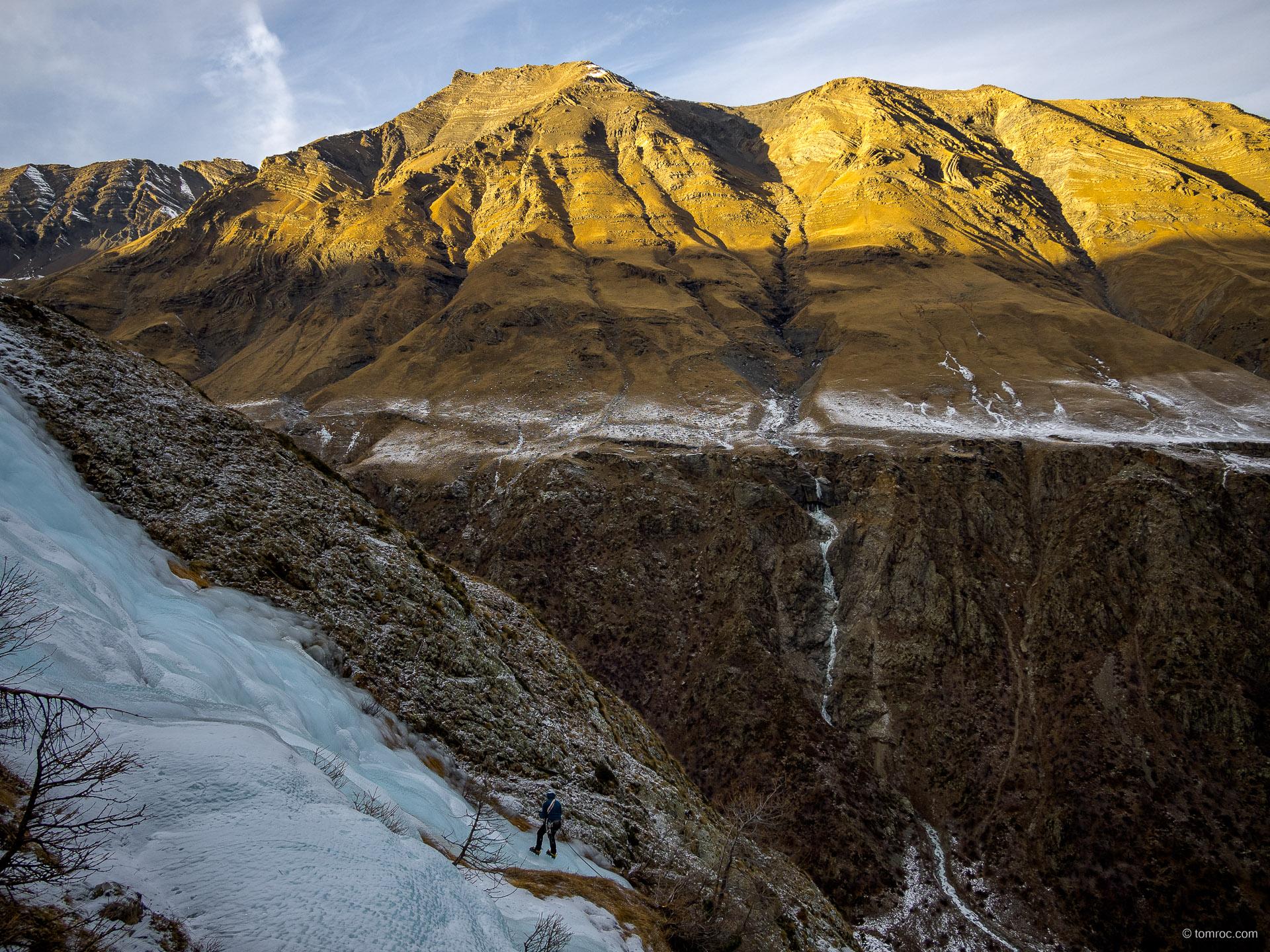 Nouvel an et Cascades de glace sans neige