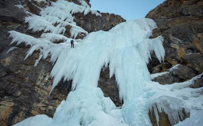 Du rocher et des cascades depuis l'Argentière-la-Bessée