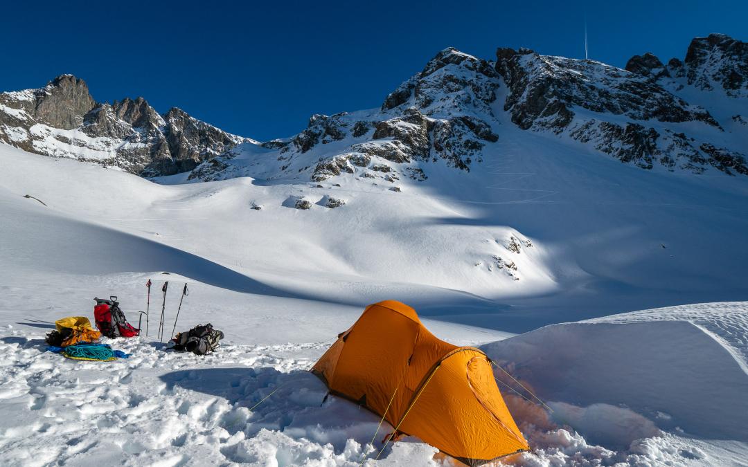 Grand Pic de Belledonne, bivouac au lac Blanc