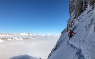Tentative au Mont Aiguille puis Trois Pucelles en hivernal