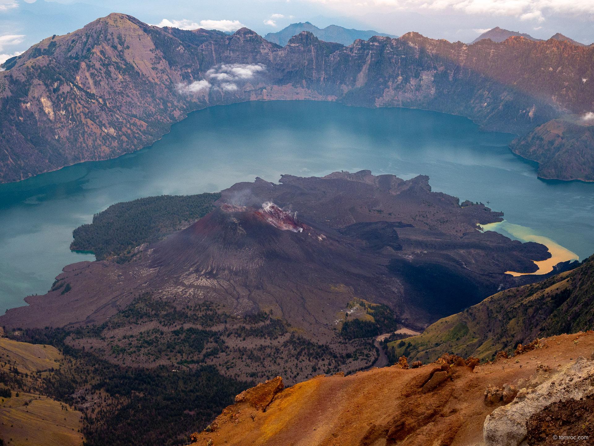 Le volcan Rinjani (Lombok, Indonésie) en version 'Deluxe'